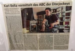 Karl Boltz vermittelt das ABC der Discjockeys - Karl Boltz - DJ K-Flip