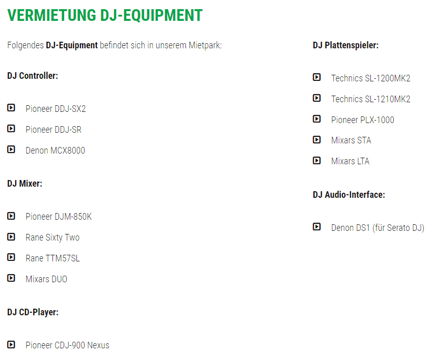 DJ-Equipment, DJ Shop in  Rutesheim - Perouse, Heuweg und Renningen